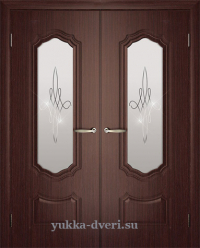 Двухстворчатые межкомнатные двери в гостинную.