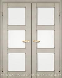 К3 двустворчатый блок межкомнатных дверей