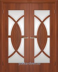 Красивая двойная дверь межкомнатная.
