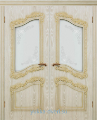 Афродита двустворчатый блок межкомнатных дверей