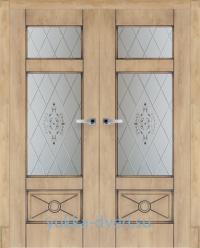 Межкомнатные двери двойные в деревянный дом