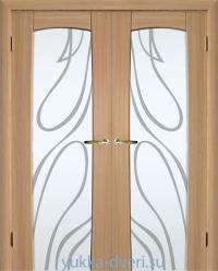 Италия, двустворчатые межкомнатные двери со стеклом в пол