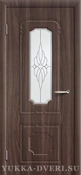 Межкомнатная дверь PR 34 ДО классика, цвет венге