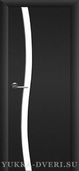 Межкомнатная дверь Сириус 2.1 триплекс белый, со стеклом сбоку