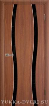 Межкомнатная дверь Сириус 2.2 изогнутые стекла