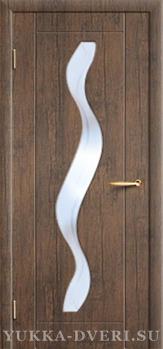 Межкомнатная дверь Водопад со стеклом