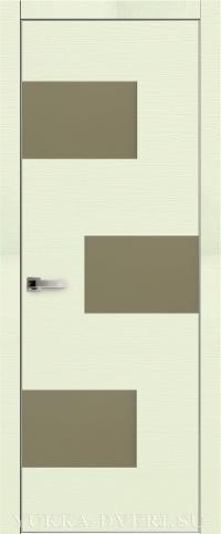 Межкомнатная дверь Платинум 8 с алюминиевой кромкой